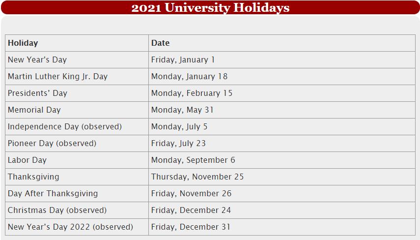 University Of Utah Calendar 2022.Program Calendar Biokids The University Of Utah